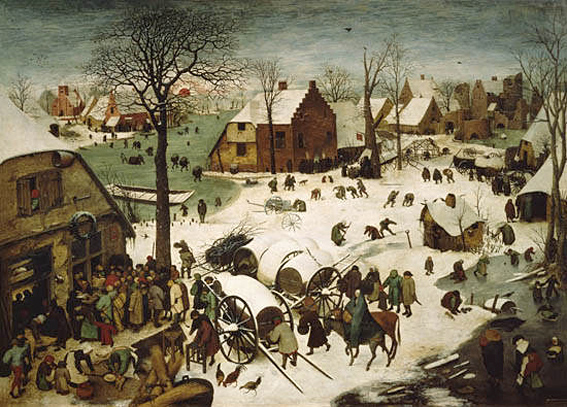 Bruegel, census at Bethlehem 1566