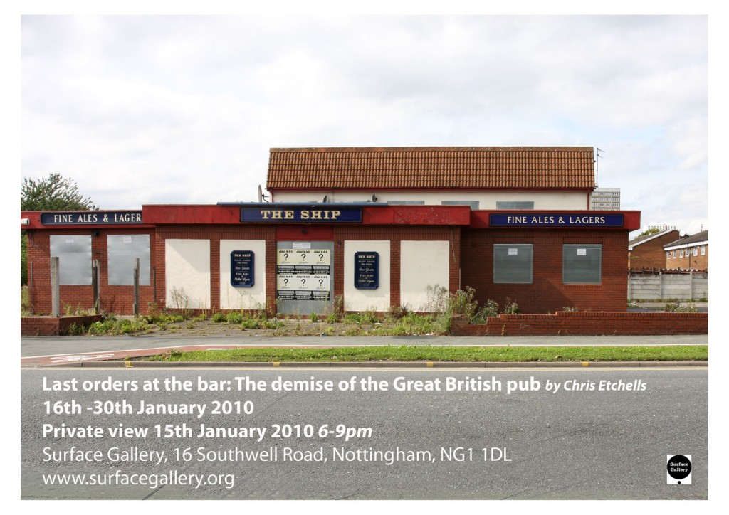 The demise of the Great British pub exhibition invite